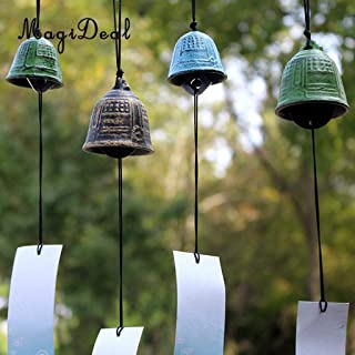 Wind Chimes & Hanging Decorations - Traditiona Japanese Furin Wind Chime Nambu Cast Iron Bell Iwachu Bells Flower-Shaped 16-1 Pcs - Dog Wind Chimes