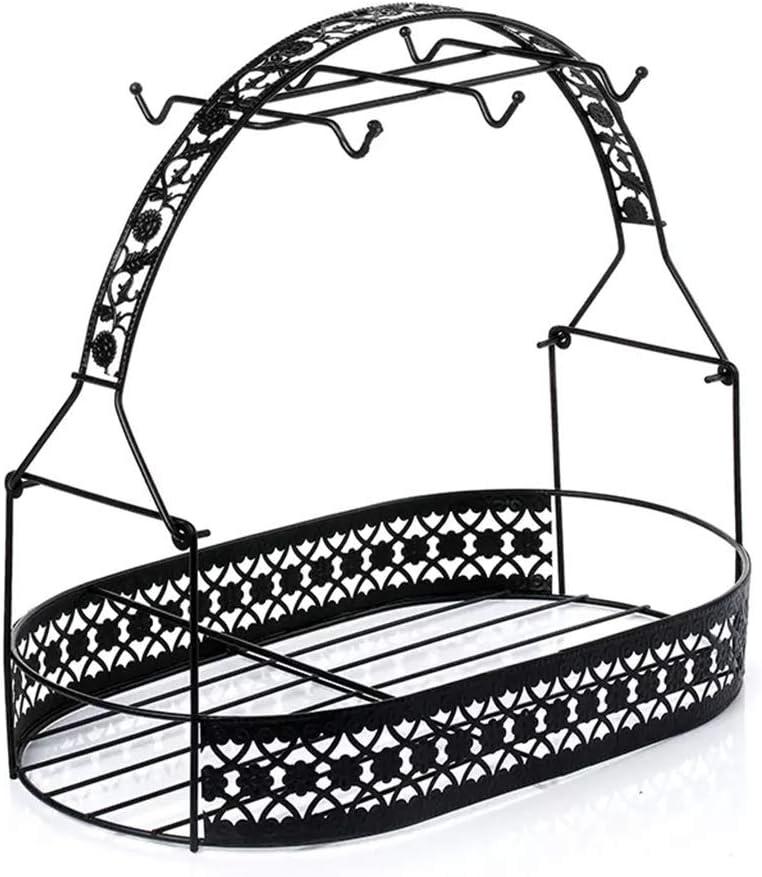 High quality Mug Rack Tabletop Tea Cup Hook Iron Holder Sto Basket Coffee OFFicial shop