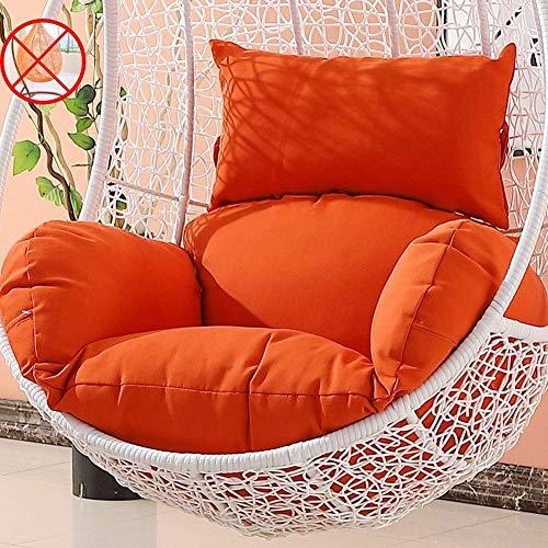LDIW Columpio Cesta Colgante del Amortiguador de Asiento, Colgantes de Huevo Hammock Chair Pads(Solo Cojín,No Hay Columpio),Naranja