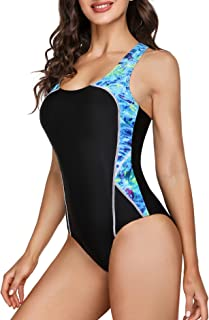 Sykooria Womens One Piece Swimsuit Swimming Costume Sports Swimwear for Swimming Surfing Diving