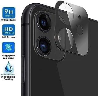 REY Protector de Pantalla 3D para Cámara Trasera de iPhone 11 Negro Cristal Vidrio Templado Premium 3D / 4D / 5D