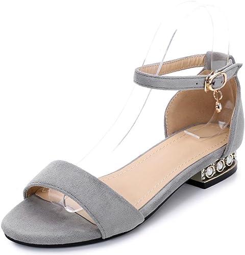 Été sandales femmes parole boucle rude avec des chaussures ouvertes ouvertes diamant sandales plates  100% livraison gratuite