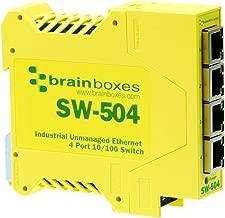 Brainboxes Switch - 4 Ports - DIN Rail mountable (SW-504)