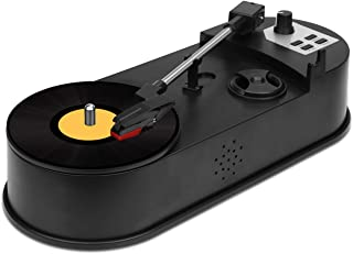 Honlibey Turntable to MP3 Converter, Record Player Vinyl to MP3 Recording, Convert Vinyl Record to MP3 in USB Flash Disk/Micro SD Card, Support 33 PRM or 45 PRM LP