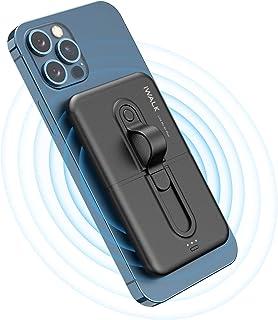 iWALK Qi ワイヤレス モバイルバッテリー 充電 5000mAh 持ち運び ナノ吸着 コードレス充電 iPhone 12/11/iPhone XR/8 Plus/Galaxy 10/9/8 などQI対応機種 PSE認証済 ブラック