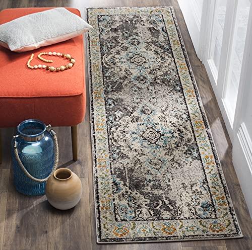 Safavieh Monaco Collection MNC243G Boho Chic Medallion Distressed Non-Shedding Stain Resistant Living Room Bedroom Runner, 2'2