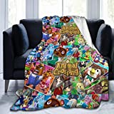 Animal Cute Characters Ultra-Soft Micro Fleece Blanket Home Decor Warm Throw Blanket for Couch Bed Sofa,50'' x40