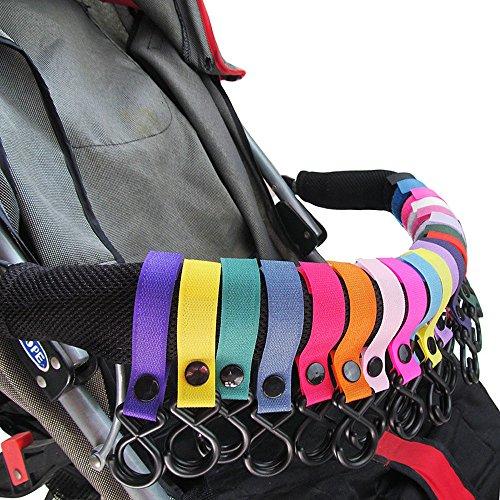 Kinderwagen Haken (9 Packungen) - ideal für Kinderwagen, Rollstuhl, Rollstuhl, Walker's Kinderwagen Haken - Joggen, Wandern oder Einkaufen Mama Baby Wickeltasche, Lebensmittel, Kleidung