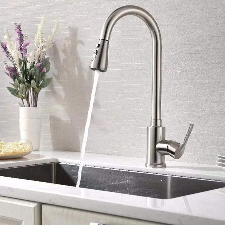 SCJ Küchenmischbatterie Golden Copper Kitchen Pot Kalt- und Warmwasserhahn Zughahn, Chrom