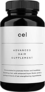 Cel Advanced Hair Supplement   Hair Vitamins for Thicker Fuller Hair   Stem Cell Technology with Collagen Peptides - Panax...