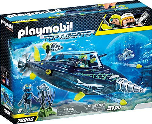 PLAYMOBIL Top Agents 70005 Team S.H.A.R.K. Drill Destroyer, Ab 6 Jahren