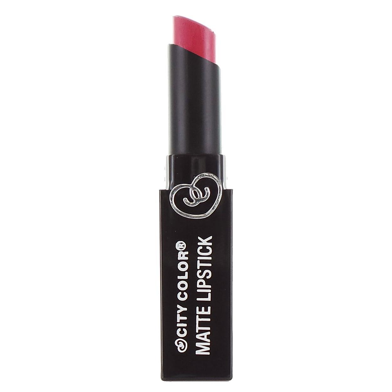 フィット聡明マリン(6 Pack) CITY COLOR Matte Lipstick L0050D - Wild Watermelon (並行輸入品)