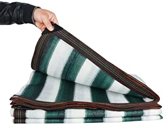WN-Tarpaulin Shade Cloth Shading Net Custom Made Stripe Window Sunscreen Foyer Cover Dust-Proof Polyethylene, 23 Sizes (Color : Green White, Size :3.2x9.8ft) (Color : Green White, Size : 3x3 m)