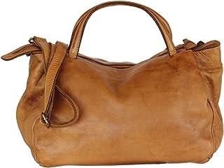 BZNA Bag Diana cognac Italy Designer Damen Handtasche Schultertasche Tasche Leder Shopper Neu