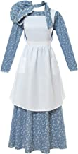 ROLECOS Pioneer Costume Dress Womens American Historical Clothing Modest Prairie Colonial Dress