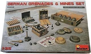 MiniArt 35258 German Grenades & Mines Set, WWII Military Miniatures 1/35 Scale Model Kit