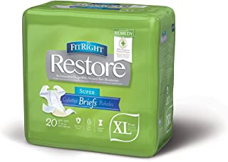 FitRight Restore Adult Briefs with Tabs, Maximum Absorbency, X-Large, 57