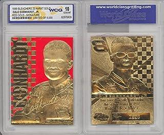 DALE EARNHARDT JR 1999 NASCAR 23KT Gold Card Sculpted Graded GEM MINT 10 Red #8