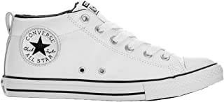 Boys Kid's Chuck Taylor All Star Street Mid Top Leather Fashion Sneaker Shoe
