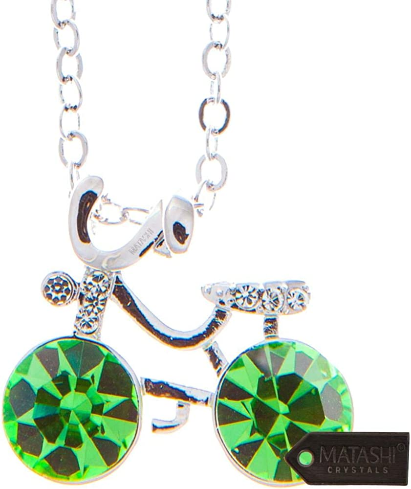 Factory outlet Max 71% OFF Matashi Rhodium Plated Bicycle Design Inch Extendabl 16 Necklace