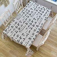 長方形コットンリネン/アールデコ調のテーブルクロス、洗える/褪色しない/変形しない、高品質、デスク/キッチン用テーブルデコレーションに最適 (色 : A, Size : 140x180cm)