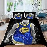 Basketball Pop Art Bedding Sheet Set Step_Hen...
