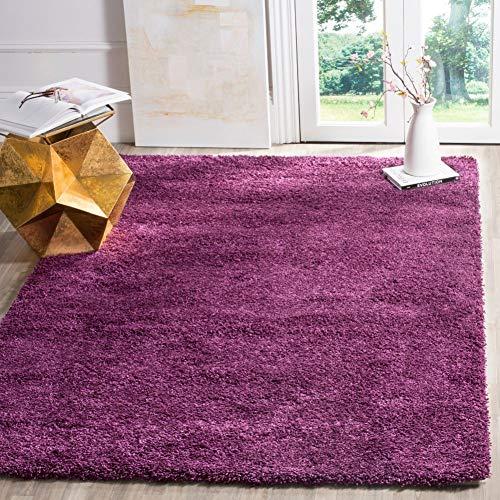 Safavieh California Premium Shag Collection SG151-7373 Purple Area Rug (4' x 6')