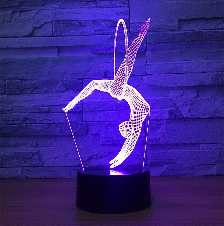 ZHJXQD 3D dekoratives Nachtlicht Illusion 3D beleuchtet Weihnachtsnachtlichter Büro-dekorative Lichter Hauptnachtlichter Stereo mit 5 Farbverlaufs-dekorativen Lichtern Emotionales Nachtlicht
