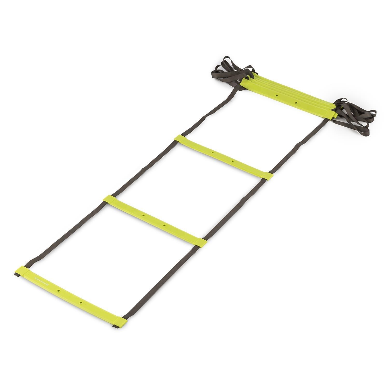 Capital Sports Klarstride 4 Agility Ladder Escalera de coordinación 4 m (Incluye Bolso, Ejercicios de Cardio, Balance y coordinación, Cintas Poliester Resistente, Entrenamiento Suelo, Verde): Amazon.es: Deportes y aire libre