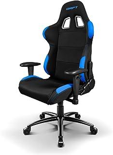Drift DR100BL - Silla Gaming Profesional, (Tela Alta Calidad, Ergonómica), Color Negro/Azul