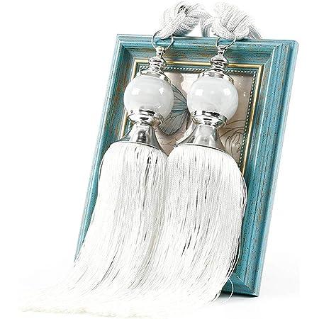 ChicSoleil Cordons de Rideaux /à Perles en Cristal Haut de Gamme et /él/égant pour la D/écoration des Fen/êtres dint/érieur Paire dembrasses de Rideaux Glands
