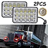 Star Headlight Products - 4x6 Inch for Freightliner Western Star Semi Trucks Rectangular LED Headlights Sealed Beam Hi/Lo Double Beam DRL Daytime Driving Lamp Replacement H4651 H4652 H4656 H4666 H6545 2 Pcs