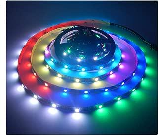 Visdoll 5M 150 Pixel WS2812B RGB Individually Addressable Led Lights Strip, WS2811 IC 30Leds/m Dream Color Led Ribbon Lighting 5050 SMD 5V (Non-waterproof Black PCB)