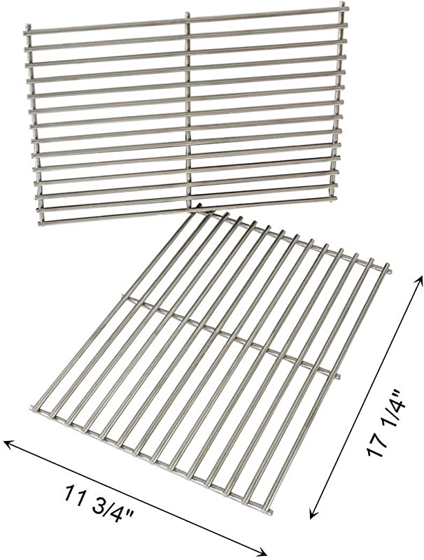 FAS INDUSTRY Cladding BBQ Cooking Grate Replacement Parts For Weber 7527 9930 Spirit And Lowes Outdoor Cooking Grill Grid For Weber Grill Parts Replacement 11 3 4 X 17 1 4 Set Of 2