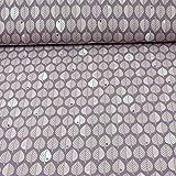 Baumwollsweat byGraziela Blätter, Ökotex 100, flieder