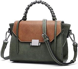 GLJJQMY Korean Version of The Retro Fashion Small Square Bag New Casual Shoulder Slung Handbag Handbag, 22x11x17cm Hand Bag (Color : Blue)