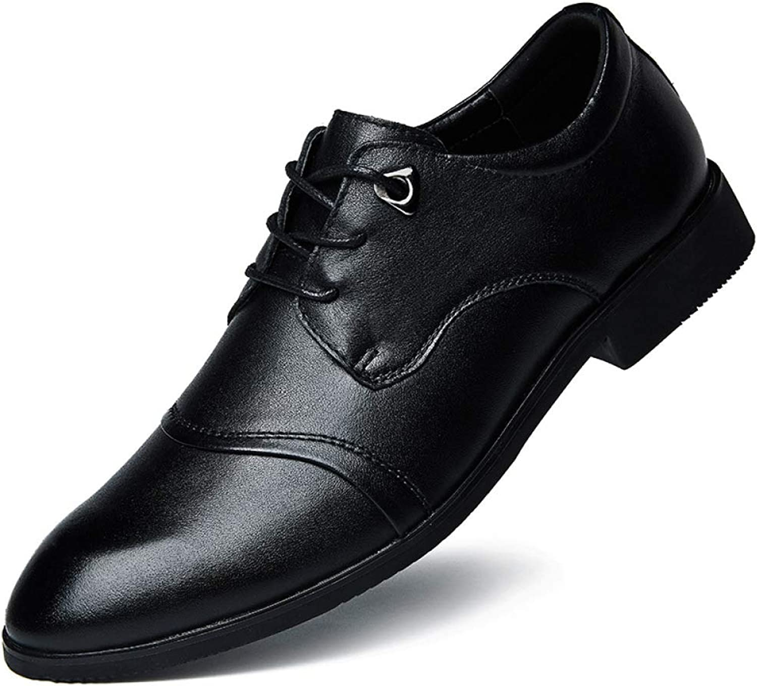 GLSHI Men's Pointed Derby shoes Fashion England Business Casual shoes Comfortable Wedding shoes Large Size