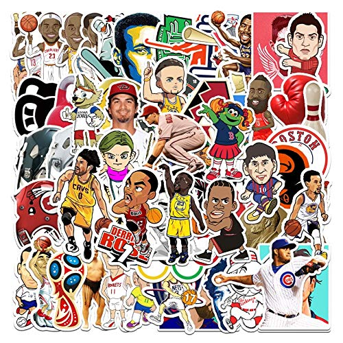 LSPLSP Stickers Sheet Sports NBA Star Cartoon Anime Graffiti Kobe Jordan Yao Ming James Classic Movie Decals Mixed 60Pcs