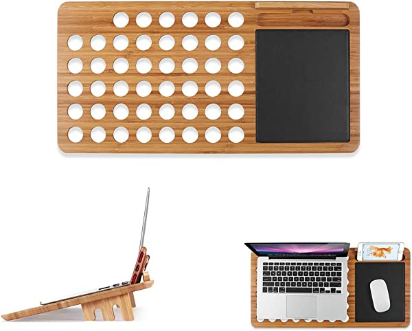 TQZY Laptop Bracket Bamboo Cooling Bracket Convenient And Detachable Creative Bracket For 13 15 Notebook