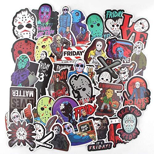 LSPLSP Freddy Krueger Friday The 13Th Terror Personajes Pegatinas Skateboard Guitarra Maleta Niñas Impermeable Scrapbooking Niños 35pcs