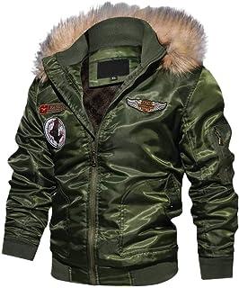 Sunward Stylish Coat for Men,Men's Autumn Winter Casual Long Sleeve Solid Hooded Zipper jacket Top Blouse