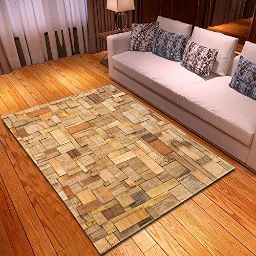 YQZS Home Designer Tapijt voor Woonkamer Interieur Decoratie Tapijt Bruin verweven strip salontafel slaapkamer tapijt huis grote tapijt mat 120X160(47X63inch)