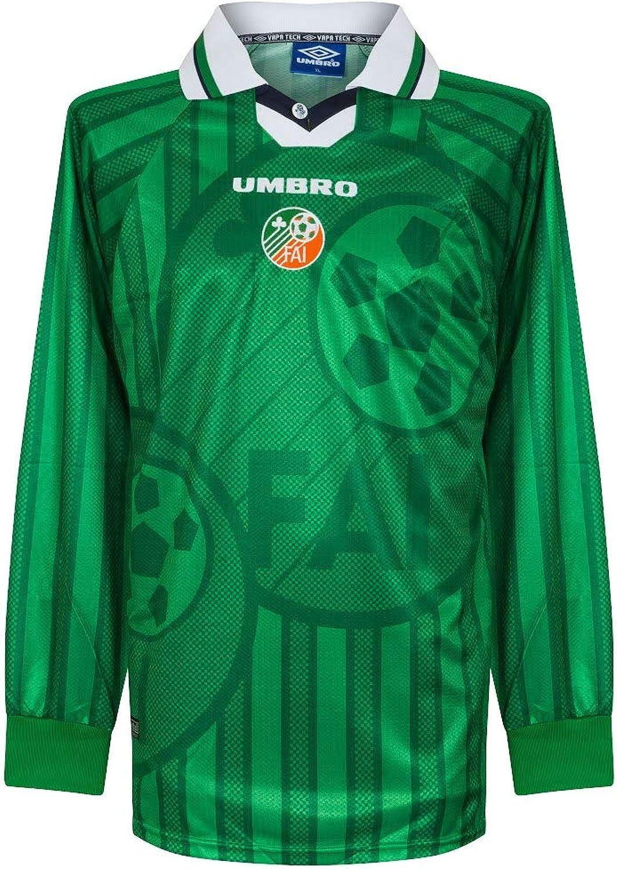 Umbro Ireland Home L S Players Shirt 1997 1999