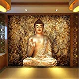 Lovemq Große 5D Papel Dunhuang Figur Buddha Tempel Religion Wandbild Tapete Für Wohnzimmer Hintergrund 3D Wand Fototapeten Wand Papier-190X150Cm