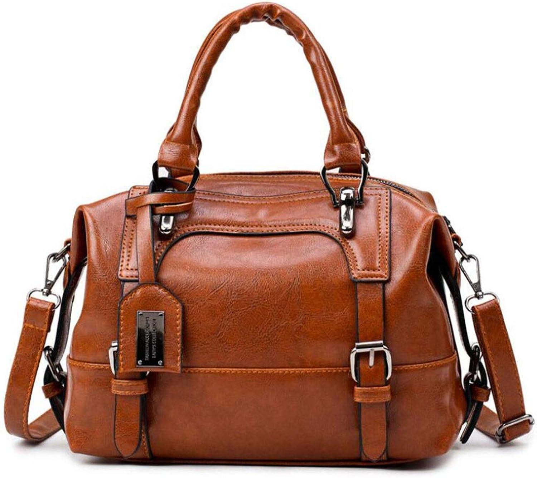 YWJ Handtasche der Frauen, Neue einfache einfache einfache Art und Weise einzelner Schulter-Kuriertasche PU-Leder weich wasserdicht und Kratzfest (Farbe   A) B07NVLGMQ1  ein guter Ruf in der Welt dbba56