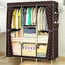 XDDDX Multi-Purpose Non-Woven Cloth Wardrobe Fabric Closet Portable Folding Dustproof Waterproof Clothing Storage Cabinet ...