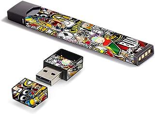 غلاف لاصق من الفينيل من IT'S A Skin لـ Pax JUUL Vape مع غطاء ملصق شاحن USB، ملصق بومب سلاب