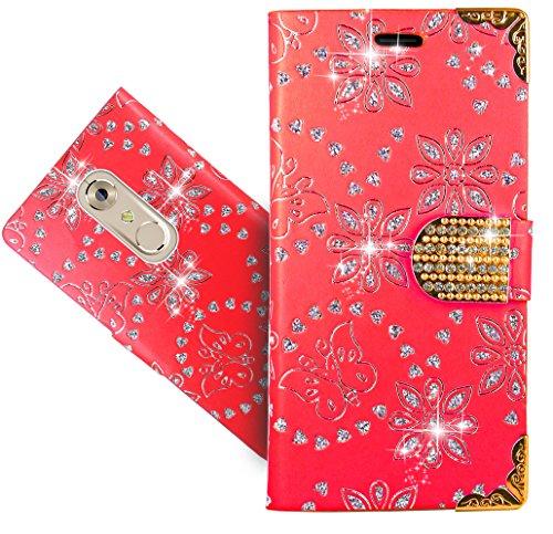 FoneExpert® ZTE Axon 7 Mini Handy Tasche, Bling Luxus Diamant Wallet Hülle Flip Cover Hüllen Etui Hülle Ledertasche Lederhülle Schutzhülle Für ZTE Axon 7 Mini