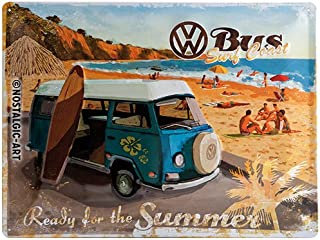 Nostalgic-Art VW Bulli Ready for The Summer Placa Decorativa