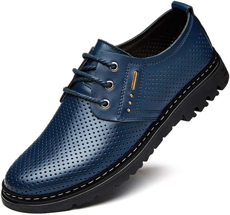 Fuxitoggo Sommer-Hohle Kleid-Geschäfts-beiläufige Schuhe Neue Breathable Freizeit schnüren Sich Oben niedrige Hilfe (Farbe   HollowBlau, Größe   46)  | Angemessener Preis